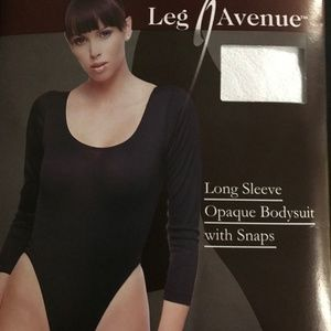 Opaque Body Suit with Snaps